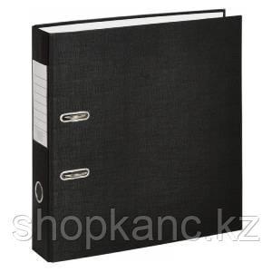 Папка-регистратор, А4, 75 мм, бумвинил/бумага, чёрный.