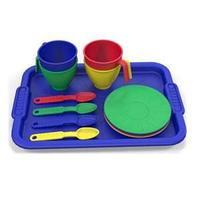 Набор посуды с разносом 13 предметов