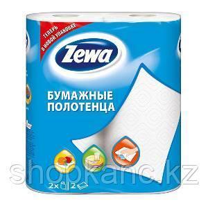 Бумажное полотенце, Zewa Plus, белый, 2 рул в упак