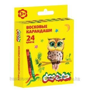 Восковые карандаши Каляка-Маляка 24 цвета круглые