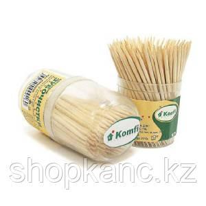 Зубочистки  в PP упаковке по 180 шт, Komfi / 100.