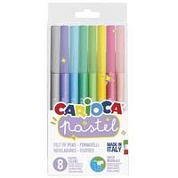 """Фломастеры Carioca """"Pastel"""", 08цв., смываемые, ПВХ, европодвес"""