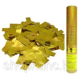 Хлопушка пневматическая ПатиБум, 30см, в пластиковой тубе, золотое конфетти
