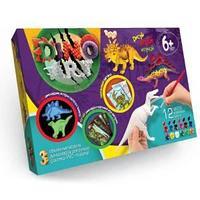 Набор креативного творчества «DINO ART Барионикс, стиракозавр,стегозавр»
