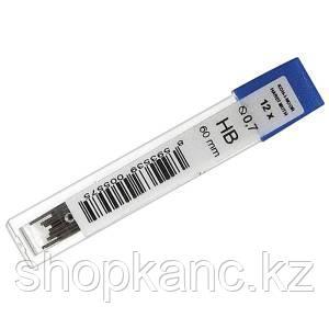 Грифели графитные 4162,  0,7 мм, твердость HB.