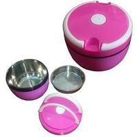 Контейнер для пищи, 1,2 мл, дополнительная чаша, крышка винтовая с резиновой прокладкой, цвет ассорт