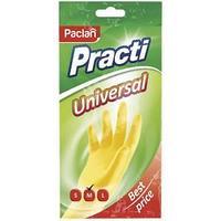 Перчатки резиновые PACLAN, PRACTI Universal, М, желтые.