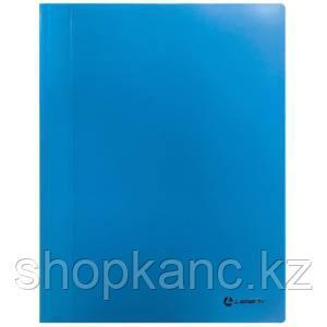 Папка-скоросшиватель, А4, 0,30 мм, непрозр.верхний лист, внутренний карман, синяя