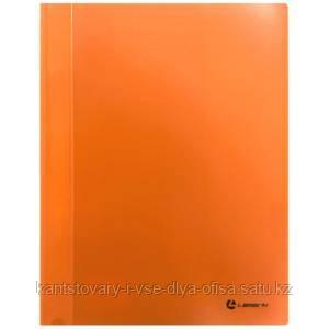 Папка-скоросшиватель, А4, 0,30 мм, непрозр.верхний лист, внутренний карман, оранжевая
