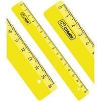 Линейка 16см NEON желтая, ЛН010