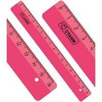 Линейка 16см NEON розовая, ЛН012
