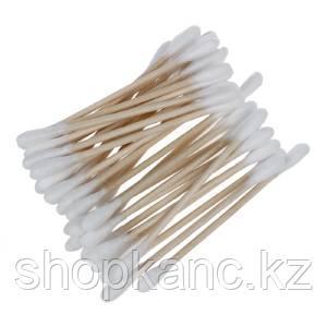 Ватные палочки 100шт, деревянная палочка. упаковка