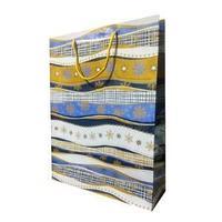 Пакет бумажный подарочный, цвет голубой , размер 33 х 43 х 10 см