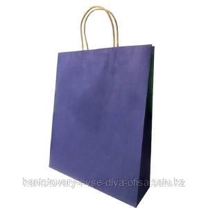 Пакет бумажный подарочный, цвет синий , размер 33 х 43 х 10 см