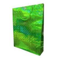 Пакет голографичекий  с 3D эффектом,  цвет зеленый, размер 33 х 43 х 10 см