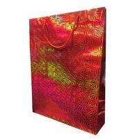 Пакет голографичекий  с 3D эффектом,  цвет красный, размер 33 х 43 х 10 см