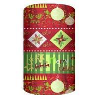 Упаковочная бумага супергладкая легкомелованная, цвет красный зел, размер 70 х 150 см