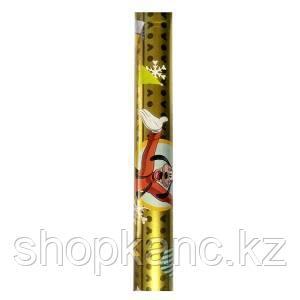 Упаковочная бумага супергладкая легкомелованная, цвет золото, Микимаус, размер 70 х 150 см