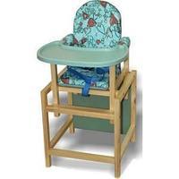 """Стол-стул для кормления """"СТД-07"""" (бирюза+серый СТД0702) с регулируемой пластиковой столешницей"""