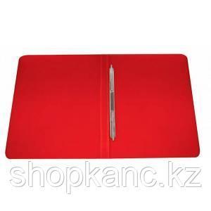 Папка-скоросшиватель с пружинным механизмом, А4 , красная.