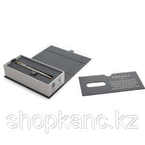 Ручка шариковая Sonnet Stainless Steel GT Slim, синяя, 1,0 мм, кнопочный механизм.