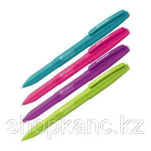 """Ручка гелевая стираемая Berlingo """"Correct"""" синяя, 0,6 мм, прорезин. корпус, корпус ассорти"""