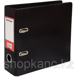Папка-регистратор, А5, 70 мм, бумвинил/бумага, горизонтальная, черная.