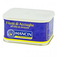 """Анчоусы филе в подсолнечном масле """"Манчин"""", ж/б. 0,600 кг."""