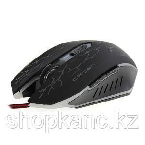 Мышка игровая оптическая с подсветкой, проводная разрешение сенсора 1200-2400 DPI, цвет черный