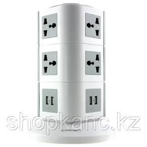 Сетевой фильтр,10 универсальных розеток, 4 USB порта 5V/2,1A