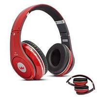 Беспроводная Bluetooth стерео-гарнитура с микрофоном, цвет красный