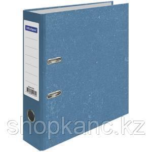 Папка-регистратор 70мм, мрамор, синяя