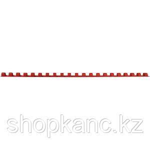 Пружина для переплета пластиковая 08 мм Proff, красная, 100 штук/в упаковке.