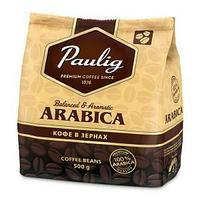 Кофе в зернах Paulig Arabica, натуральный, степень обжарки-3, вакуумная упаковка 500 гр.