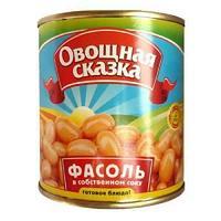 Фасоль в томатном соусе, 310 гр, Овощная сказка