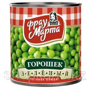 Горошек зеленый, 310 гр, Фрау Марта. ГОСТ
