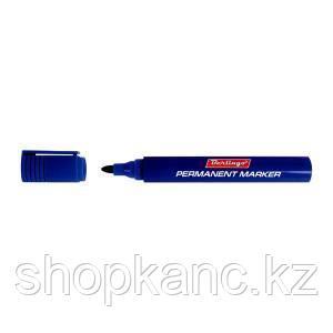 Маркер перманентный синий, пулевидный, 1,5мм