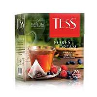 Чай Tess Forest Dream, чёрный (малина, черника), пакетированный, 20*1,8 г.