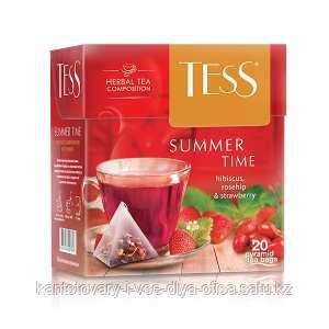 Чай Tess, Summer Time, herbal, пирамида, 1,8 гр. х 20 пакетов.