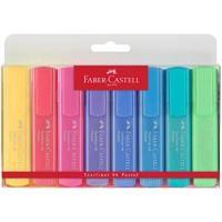 """Набор текстовыделителей Faber-Castell """"46 Pastel"""", 8 пастельных цв., 1-5мм, пластик. уп"""