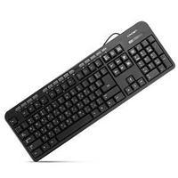 Клавиатура проводная  USB, 108 стандартных клавиш.(рус./англ./каз.)