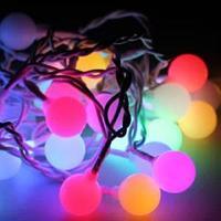 Электронная  гирлянда Большие шарики 30 светодиодов, 8 режимов моргания, Размер 4.5 м
