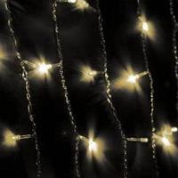 Светодиодная гирлянда, занавес 200 светодиода, цвет белый,  размер 2.5*1.21м.,8 режимов мигания