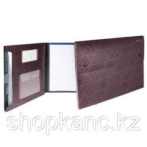 Папка-конверт, на 2-х кнопках, 0.7мм, DELTA, 4 отд, каскад, карман для CD,фиолетовый,арт255032-24