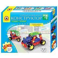 """Конструктор пластиковый Русский стиль """"Мотороллер и джип"""", 2 модели, 92 детали"""