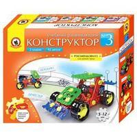 """Конструктор пластиковый Русский стиль """"Мотоцикл и драгстер"""", 2 модели, 92 детали"""
