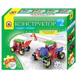 """Конструктор пластиковый Русский стиль """"Эвакуатор и грузовик"""", 2 модели, 92 детали"""