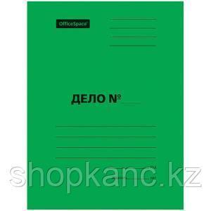 Скоросшиватель, мелованный картон, А4, 300 гр.  зеленый.