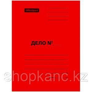 Скоросшиватель, мелованный картон, А4, 300 гр.  красный.
