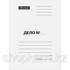 Скоросшиватель, немелованный картон, А4, 220 гр.  белый.